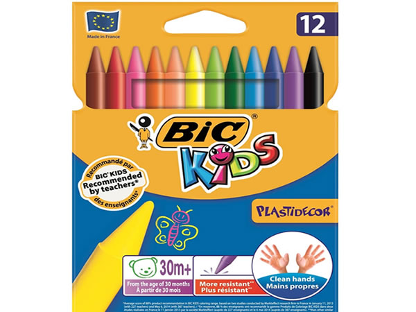 Bic 12'li wax crayon bornova