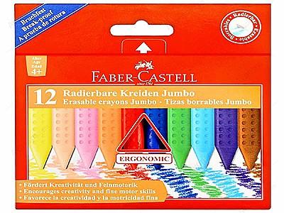 Faber castell 12'li jumbo wax crayon
