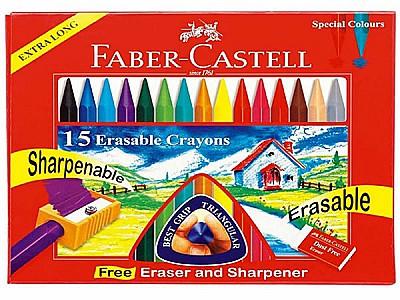 Faber castell 15'li wax crayon