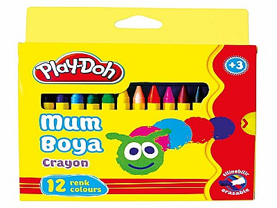 Playdoh 12'li wax crayon bornova